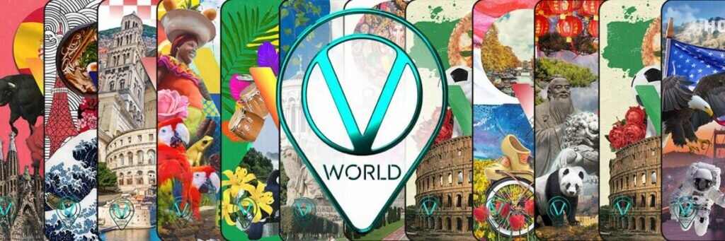 World Of V unique NFT trading cards collection featuring VeChain's journey around the world seen by the eyes of different artists.